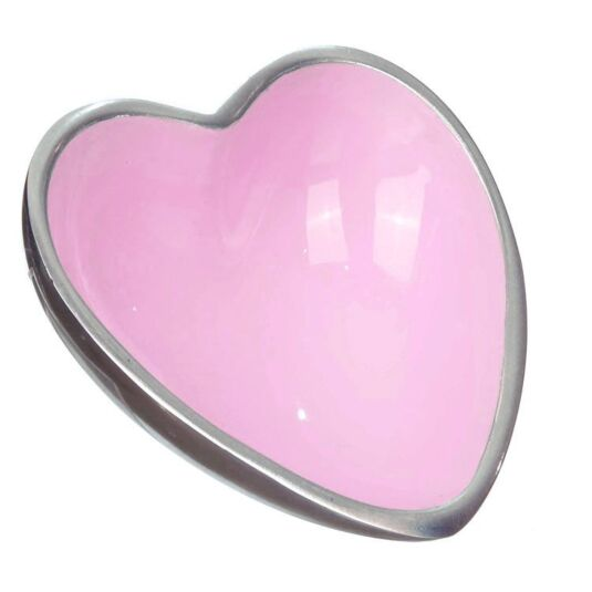 Orvieto Enamelled Aluminium Heart Shaped Bowl Pink