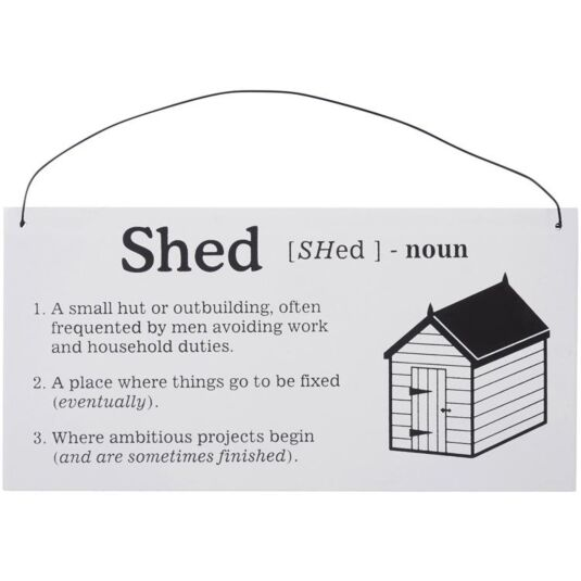 Shed Definition Sign