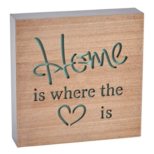 Home Is Where the Heart Is Block Sign