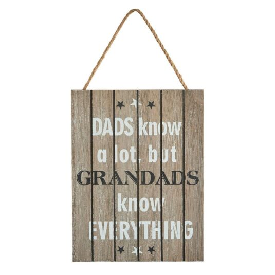 Grandads Know Everything Sign