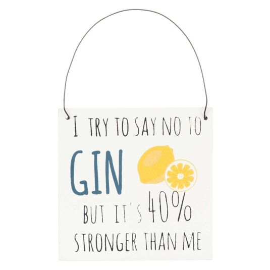 '40% Stronger' Mini Gin Sign