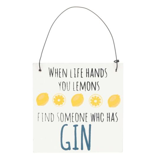 'When Life Hands You Lemons' Mini Gin Sign