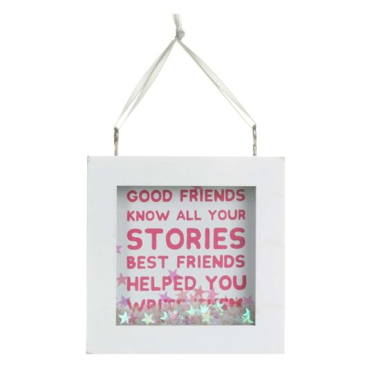 'Best Friend Stories' Star Confetti Sign