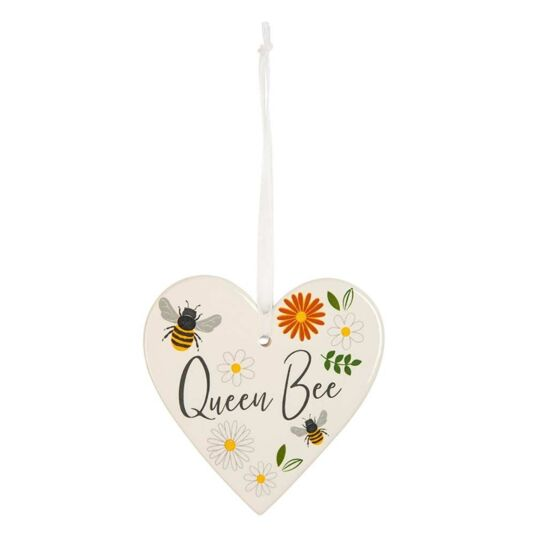 Busy Bee 'Queen Bee' Hanging Heart