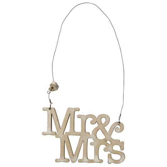 'Mr & Mrs' Small Sign