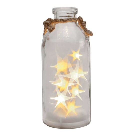 LED Stars in a Clear Bottle