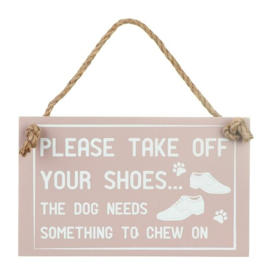 'Take Off Your Shoes' Sign