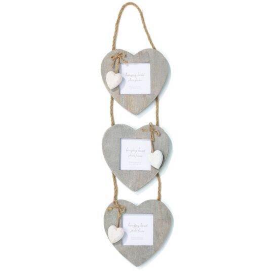 Transomnia Triple Hanging Heart Frame | Temptation Gifts