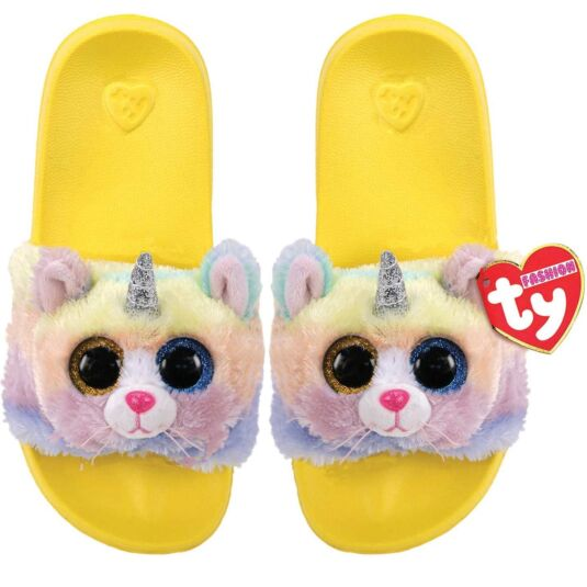 Heather Yellow Beanie Boo Medium Slides