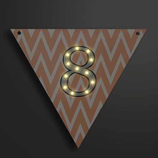 Light Up LED Bunting Flag Number 8