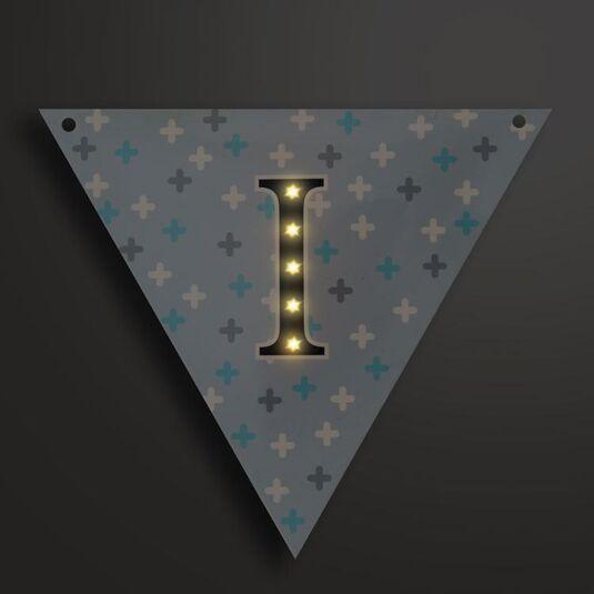 Light Up LED Bunting Flag Letter I