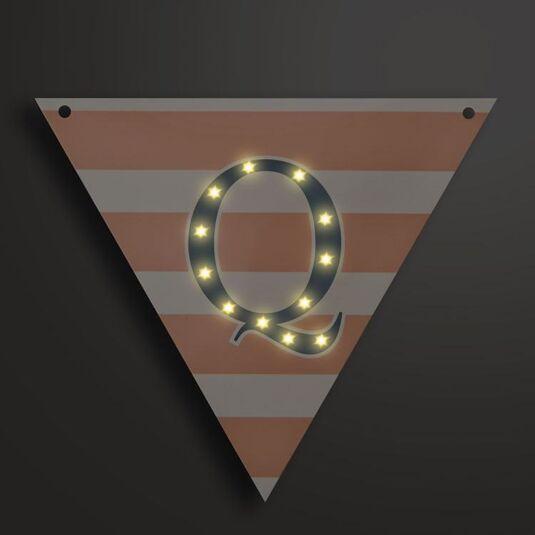 Light Up LED Bunting Flag Letter Q