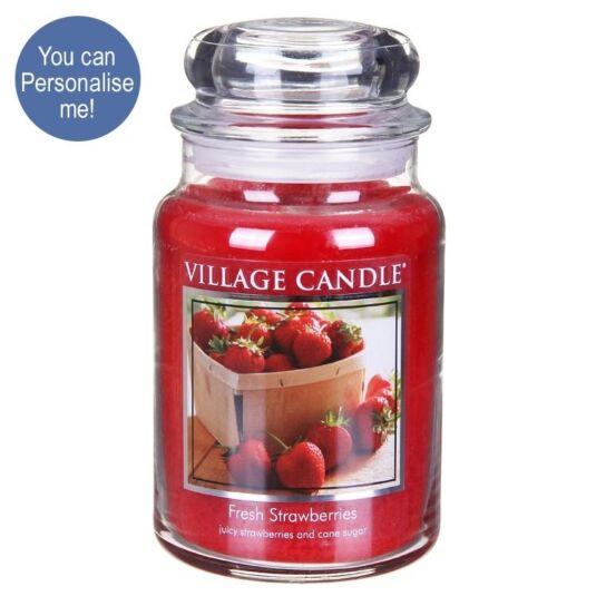 Fresh Strawberries Large 26oz Jar Candle