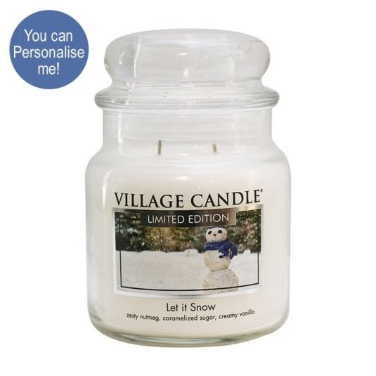 Let it Snow Medium 16oz Jar Candle