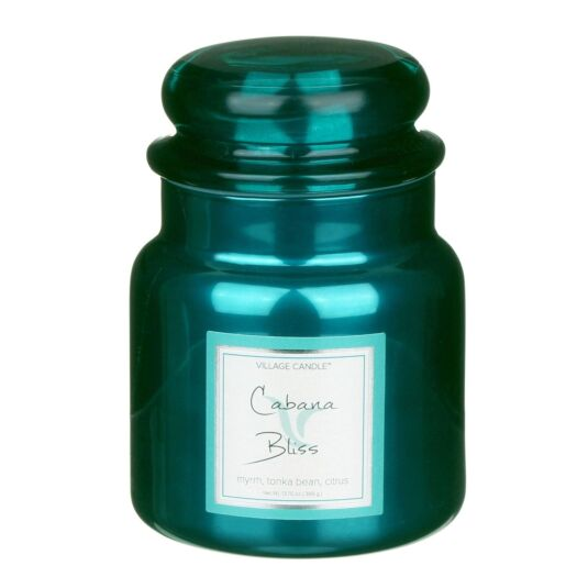 Cabana Bliss 16fl.oz Metallic Jar Candle