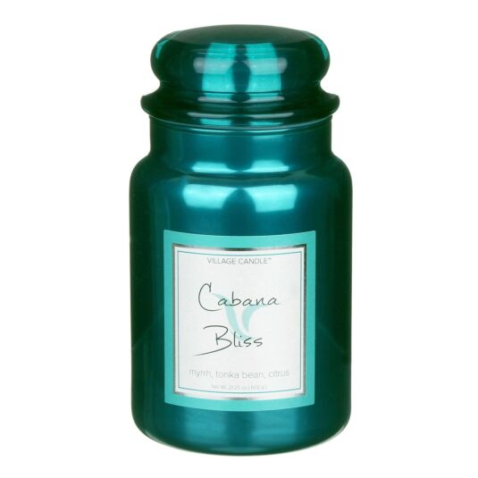 Cabana Bliss 26fl.oz Metallic Jar Candle