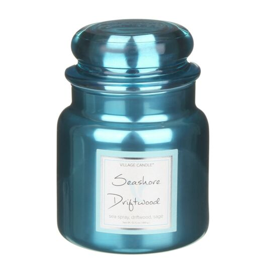 Seashore Driftwood 16fl.oz Metallic Jar Candle
