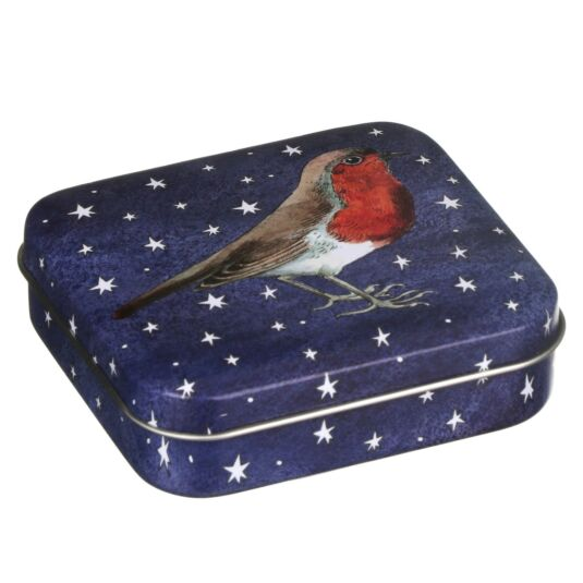Winter Animals Small Robin Tin