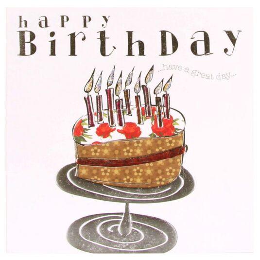 Wendy Jones Blackett Fresco Happy Birthday Cake Card Temptation Gifts