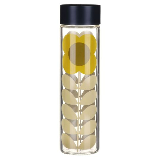 Daisy Stem Glass Water Bottle
