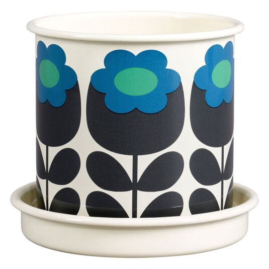 Primrose Emerald Medium Enamel Plant Pot