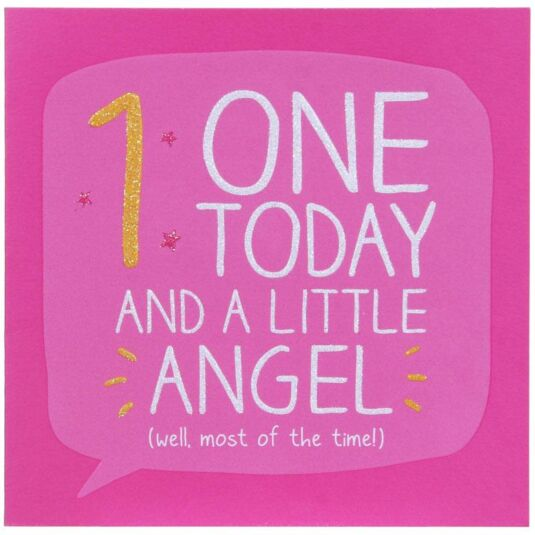 1 Today and a Little Angel Birthday Card