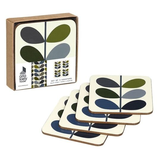 Stem Ink Multi Stem Set of 4 Coasters
