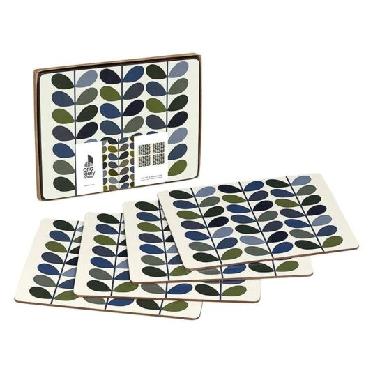 Set of 4 Boxed Stem Ink Placemats