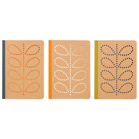 A6 Mini Kraft Notebooks – Set of 3