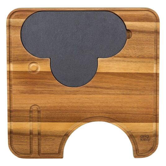 Ela Elephant Wooden Cheese Board with Knives