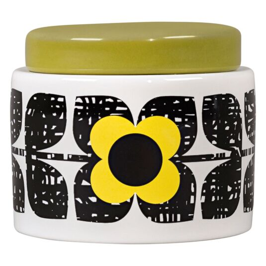 Scribble Square Flower Sunshine Small Storage Jar