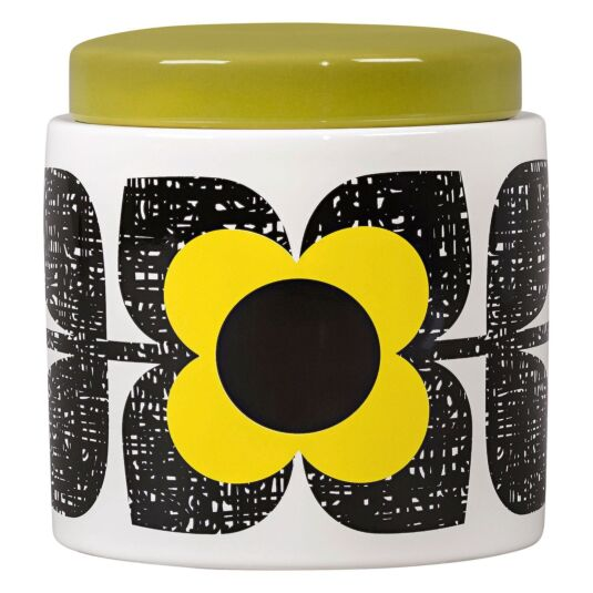Scribble Square Flower Sunshine Large Storage Jar