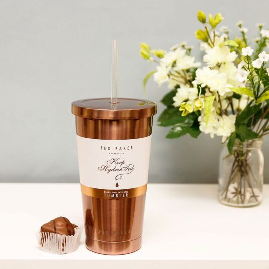 5a72a125aa Ted Baker Rose Gold Tumbler and Straw