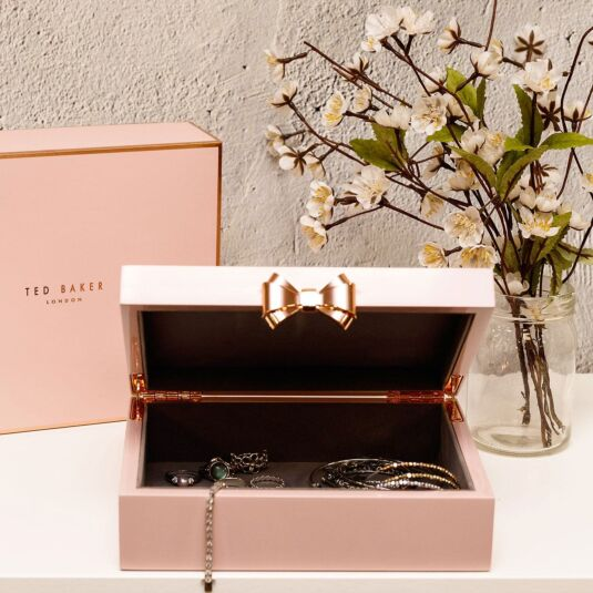 80c1b0261 Ted Baker Pink Lacquered Medium Jewellery Box