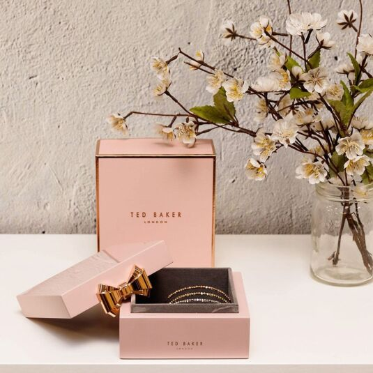 25e2da8fe Ted Baker Pink Lacquered Small Jewellery Box | Temptation Gifts