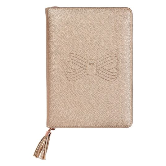 A5 Rose Gold Tassel Folio