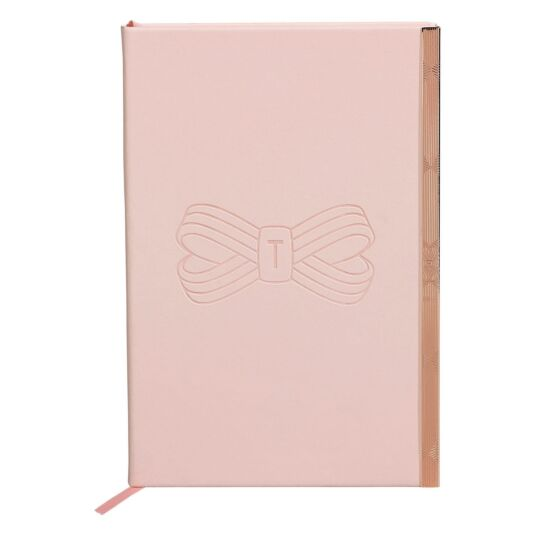 Pink Bow Soft Touch A5 Notebook