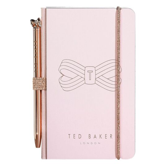 Pink Bow Mini Notebook with Pen