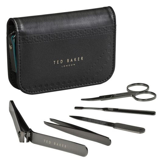 Monkian Black Brogue Manicure Set