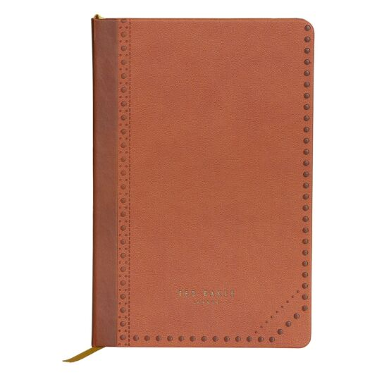 Kiku Brown Brogue A5 Notebook