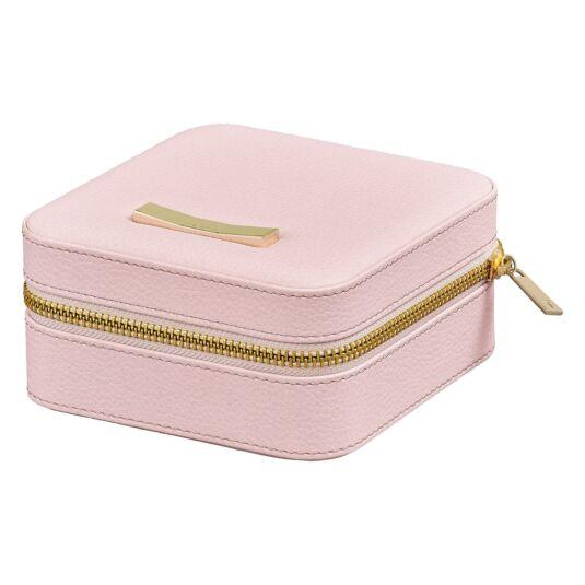 Pink Zipped Jewellery Case