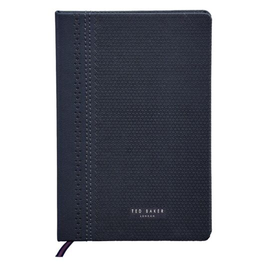 Brogue Navy A5 Notebook