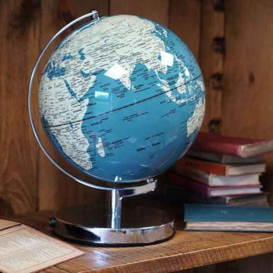 French Blue Globe Light 10""