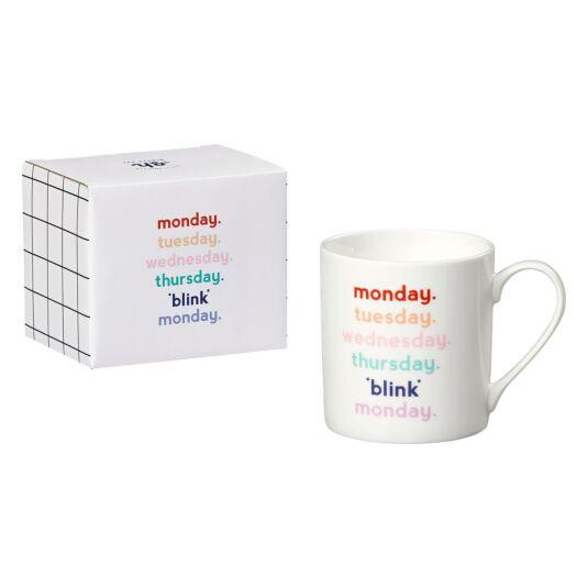 'Monday Blink' Mug