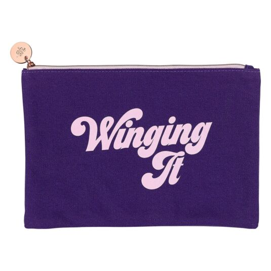 'Winging It' Make Up Pouch