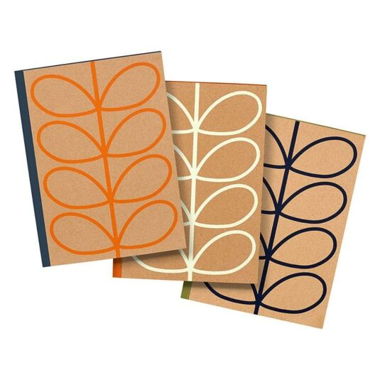 Linear Stem Set of 3 Notebooks