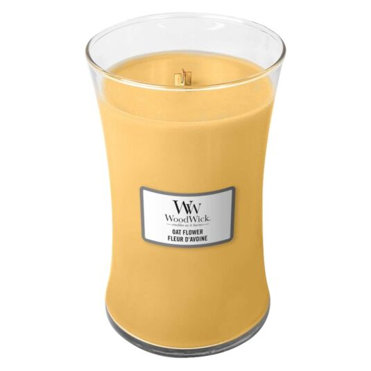 Oat Flower Large Hourglass Candle