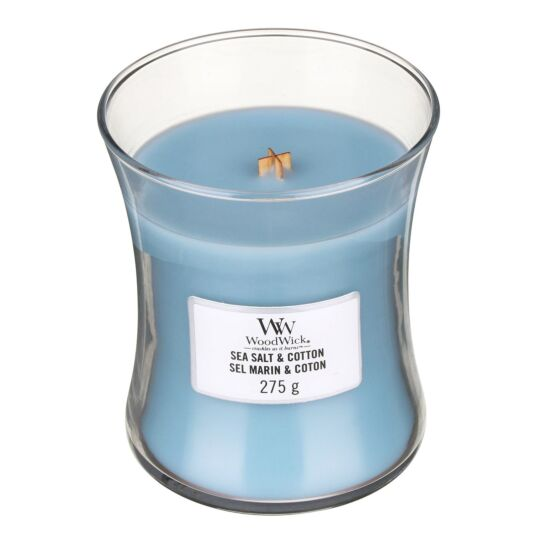Sea Salt & Cotton Medium Hourglass Candle