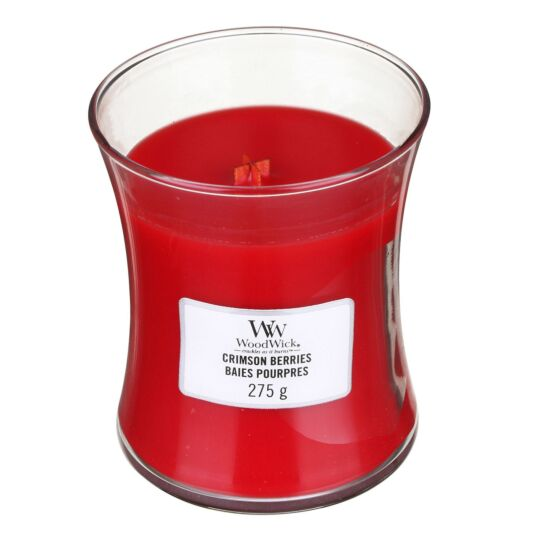Crimson Berries Medium Hourglass Candle