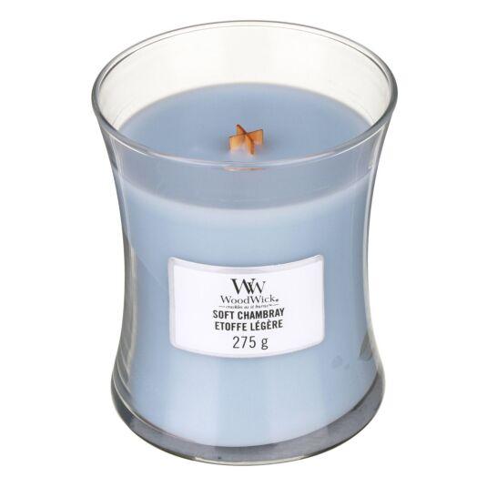 Soft Chambray Medium Hourglass Candle